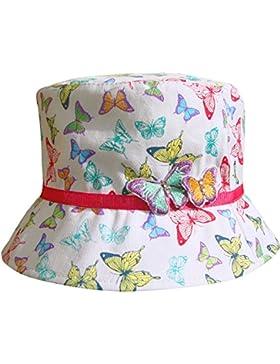 Da bambina 3D arcobaleno farfalla spiaggia cappello a secchio estivo