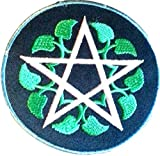 Iron on Bügel Aufnäher Aufbügler Patches Flicken Sticker Bügelbilder Applikation Kleidung Pentagram 7,5 cm