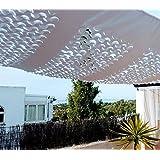 Toldo,Vela,Malla de sombra tamaño 2 x 3 metros SVELA modelo CHIC color blanco
