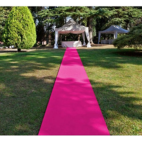 (Teppich Pink VIP Hochzeitsteppich Läufer 200cm breit (€4,25p/m2))