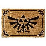 Zelda Triforce logo tappeto zerbino di cocco 60x40cm Nintendo beige