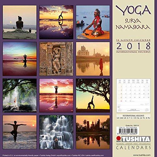 Yoga Surya Namaskara 2018: Kalender 2018 (Mindful Edition)