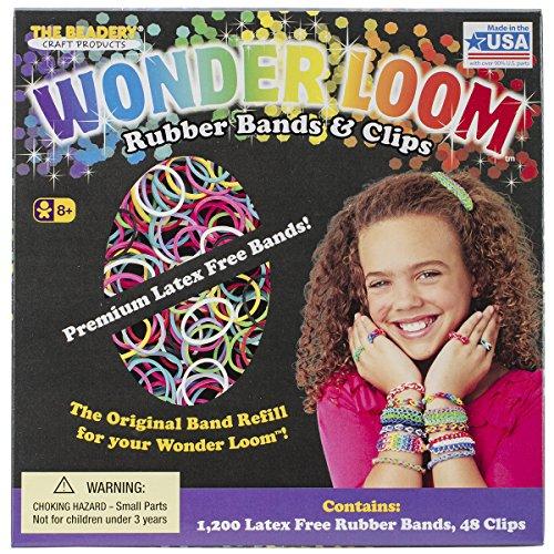 Beadery Wonder Loom - Juego de correas de goma y clips de recambio