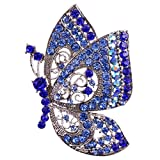 Vintage Schmetterling Form Brosche Nadel Anstecker Brooch Geschenk Schmuck - Blau