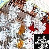 30 Stück Schneeflocken Stern Schnee 10cm Weihnachtssterne Dekostern Fensterdeko Weihnachtsschmuck zum Hängen formbar Tischdeko/Weihnachtsdeko