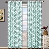 Meridian azul ojal apagón cortina de ventana de cortinas, par/Set de 2paneles, 52x 108cm cada uno, por Royal Hotel