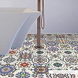 EXTSUD Adesivi per Pavimento Piastrelle Antiscivolo Impermeabile Stickers da Bagno Cucina Camera da Letto Adesivi Murali a Esagono Decorazione Casa Set di 10 Pezzi (Stile Marocco)