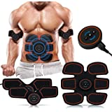 Top1Shop Abs Stimulator,Muscle Toner,Abs Stimulating Belt- Abdominal Toner- Training Device for Muscles-Wireless Portable to-