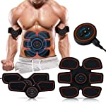 Abs Stimulator,Muscle Toner,Abs Stimulating Belt- Abdominal Toner- Training Device for Muscles-Wireless Portable to-Go...