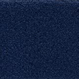 Teppichboden Auslegware Meterware Velour uni blau dunkel 400 cm und 500 cm breit, verschiedene Längen, Variante: 3,5 x 4 m
