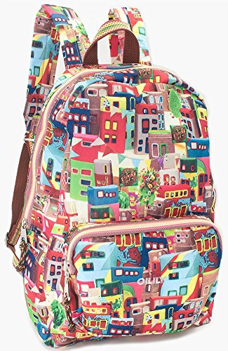 oilily-matchbox-city-folding-casual-backpack-multicolor