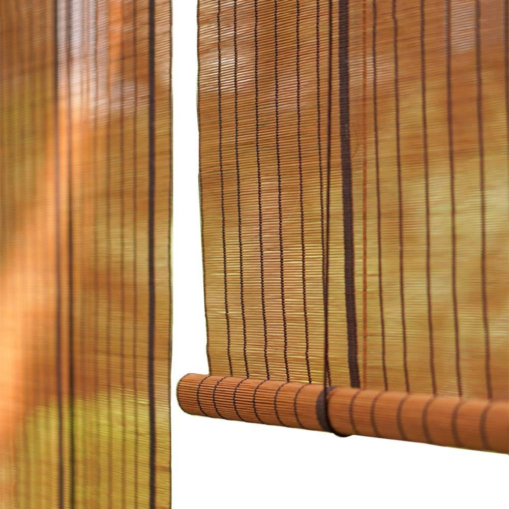 Tende Per Porte.Tende A Rullo Finestre E Porte 60 Di Oscuramento Verticale Per Filtri Di Luce Tende Veneziane In Bambu Con Tirante Laterale Dimensioni
