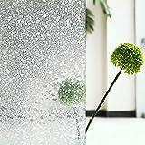 Tamia-Home Statische Fensterfolie 90% UV-Sonnenschutz Selbsthaftende Sichtschutzfolie Glasdekor (S024 60x200cm)