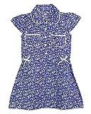 SSMITN Girls' Dress(SK2209_6-7Y, Blue, 6...