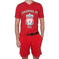 Liverpool FC Mens Pyjamas Short Loungewear Official Football Gift