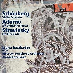 Schönberg: Violinkonzert Op.36/Adorno: Sechs Orchesterstücke Op.4/Strawinsky: Feuervogel-Suite
