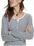Scotch & Soda Maison Damen T-Shirt Home Alone Long Sleeve Granddad Tee, Mehrfarbig (Combo A 17), X-Small