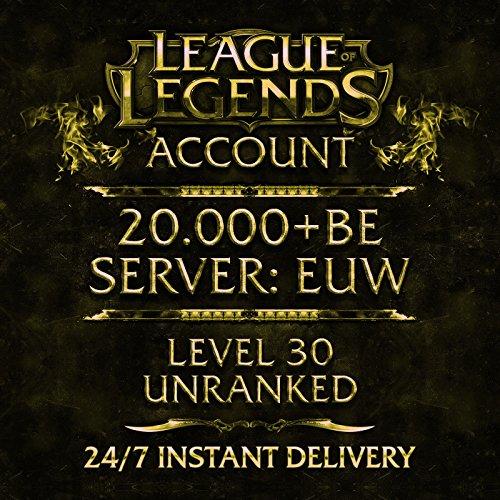 Produktbild League of Legends Account Europe West Level 30 20.000 BE