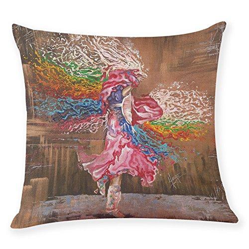 Harpily Tänzerin Aquarell Holding Home Dekor Cover Tänzer Werfen Abdeckungen Kissen,45x45 cm