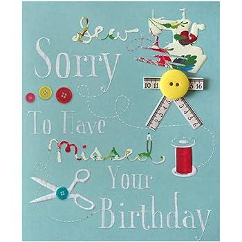 Hallmark Belated Birthday Card Sew Sorry