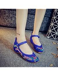 DESY Chaussures brodées, semelle tendineuse, style ethnique, chaussures en tissu féminin, mode, chaussures de danse confortables