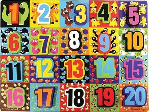Melissa & Doug Jumbo Chunky Learning Puzzle -