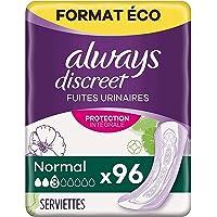 Always Discreet Serviettes, Long, Plus, 96 Serviettes, Format Eco, Pour Incontinence et Fuites Urinaires, Protection…