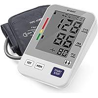 HYLOGY Oberarm Blutdruckmessgerät, Digitales Blutdruckmessgerät, Automatische Blutdruckmonitor und Pulsmessung, Standard-Manschette (22cm - 36cm), Großbild-Display und 2 Benutzer-Modus 2 * 90 Speicher