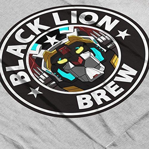Voltron Black Lion Brew Coffee Women's Hooded Sweatshirt Heather Grey
