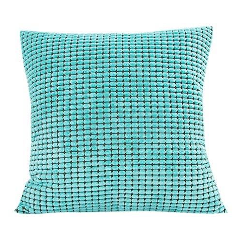 Pillow-top-matratze König-set (Kopfkissen Bezug Kissen Home dekoratives Kissen Kissen für Sofa kordüberwurf Schutzhülle 18x 18, Samt, Mint Green 1, 18)