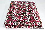 Hand Block Print Stoff indische 100% Baumwolle Natur