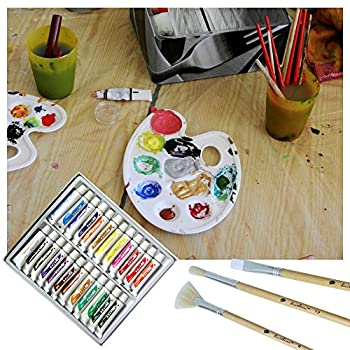 Daveliou Oil Paints Set – 12ml X 24 Colour Paint Tubes – Non Toxic Painting Kit For Beginners Students & Artists 4