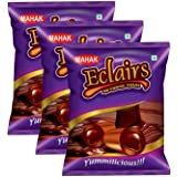Mahak Eclairs Candy | Eclairs Candy Pouch |Choco Eclairs Candies Pack of 3