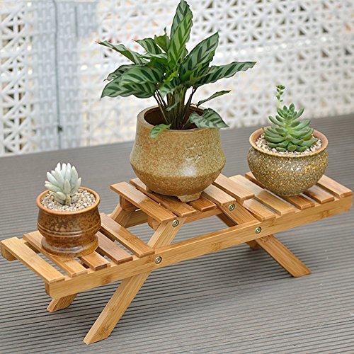 Estante soporte para macetas para plantas de flor de bambú florero de escritorio estante Rack