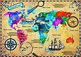 Puzzle 2000 pièces - Colorful World Map