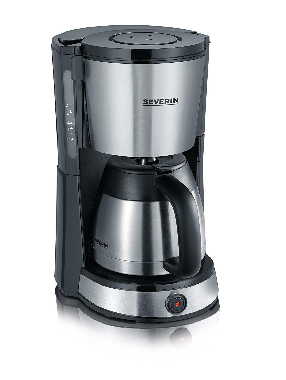 Severin-KA-4132-Kaffeemaschine-edelstahl-gebrstet-schwarz-Zertifiziert-und-Generalberholt