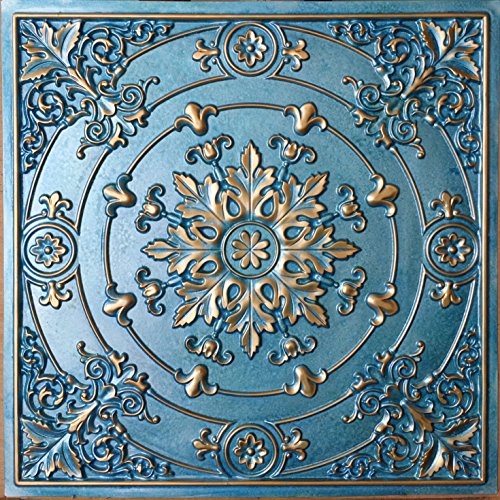 pl18-faux-tin-artistic-3d-ceiling-tiles-cyan-gold-embossed-photosgraphie-background-decoration-wall-
