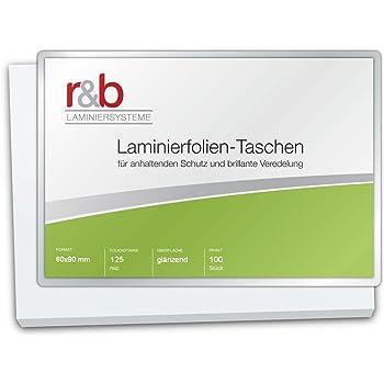 R B M BC 125 Lot De 100 Pochettes Plastification Carte Visite 60 X 90 Mm Brillant 2 Microns