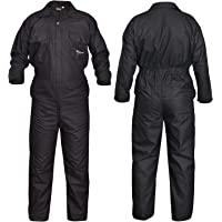 SHYNE KILTS U.K Black Men's Coverall Overalls Boiler Suit Coveralls Work Wear Mechanics Boilersuit