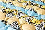 Babyfrücht Krabbeldecke/Sitzkissen HLP:'Zebrafreunde', Fb. blau, rutschfest/wasserfest, Serie: High-Line Premium (HLP) - Artikel 10132, ca. (40x40) cm groß, 60°C waschbar