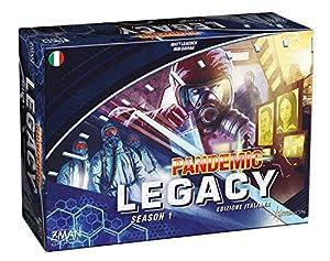 Asmodee Italia 8385Pandemic Legacy-Edición Italiana, Azul