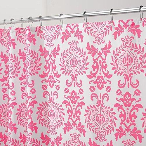MetroDecor mdesign Toile Stoff Duschvorhang-182,9x 182,9cm Hot Pink