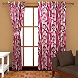 Freehomestyle Floral Door Curtains- Pink...