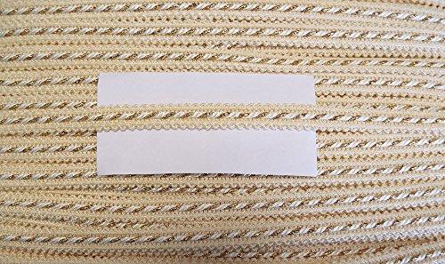 Posamentenborte mit Lurexfaden 10 mm (creme)