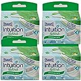 4x Wilkinson Intuition Naturals Sensitive Care 3lames de rasoir avec savon et Aloe