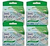 4 X Wilkinson Intuition Naturals Sensitiv Care 3 lamette da barba con sapone e Aloe immagine