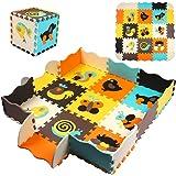 StillCool Alfombra Puzzle para Niños 30 * 30cm, Puzzle Estera de Juguete de Espuma Sólida, 25 Piezas Grueso (0.47 Pulgadas) p