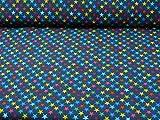 Glünz Softshell Sterne, dunkelblau (ab 0,25cm x 150cm)