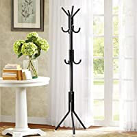 3D Cloud Creative Cloth Hanger Stand for Bedroom Hanging Clothes Shelves, Wrought Iron Racks Standing Coat Rack - Black 12 Hook Coat Hanger/Clothes Hanger Cloth Stand with Standing 12 Hooks