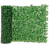 [neu.haus] Siepe artificiale con foglie (100 x 300 cm) Protezione visiva / Recinzione per balconi / Protezione in PVC